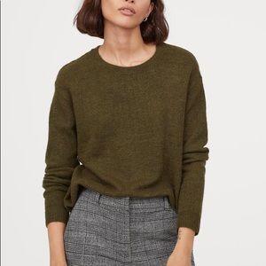 H&M Fine-Knit Olive Sweater